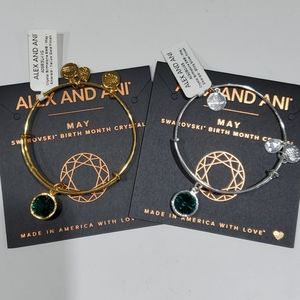 Alex and Ani birthstone May Emerald bracelet